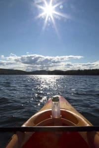 summer vacation kayaking Squam Lake